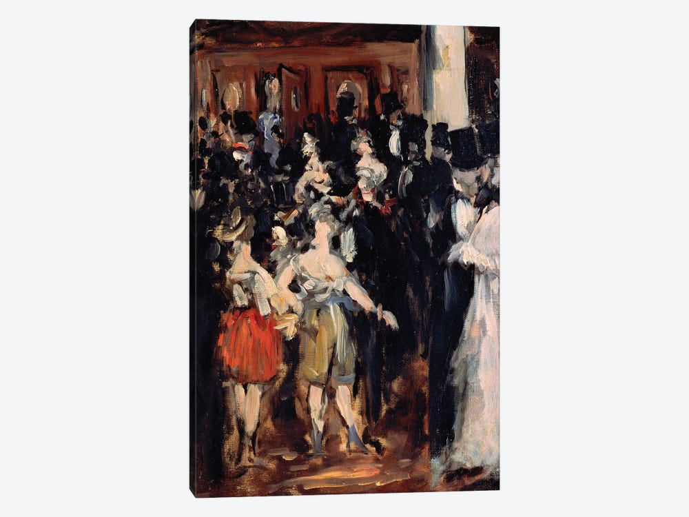 Masked Ball at the Opera, 1873 by Edouard Manet 1-piece Canvas Wall Art