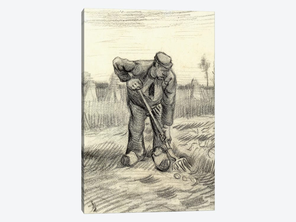 Potato Gatherer, 1885 by Vincent van Gogh 1-piece Canvas Print