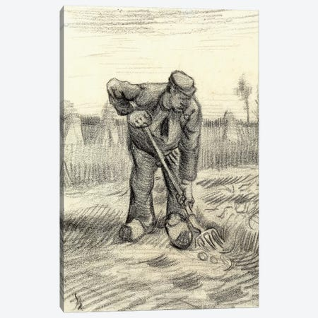 Potato Gatherer, 1885 Canvas Print #VRM9} by Vincent van Gogh Canvas Art Print