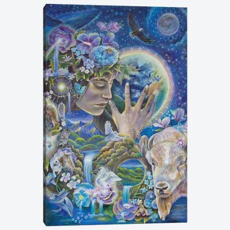Deep Listening Canvas Print #VRW15} by Verena Wild Canvas Artwork