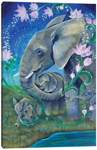 Elephants For Peace Canvas Art Print