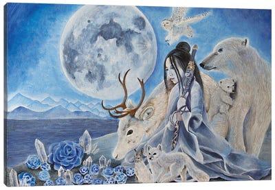 Snow Moon Canvas Art Print