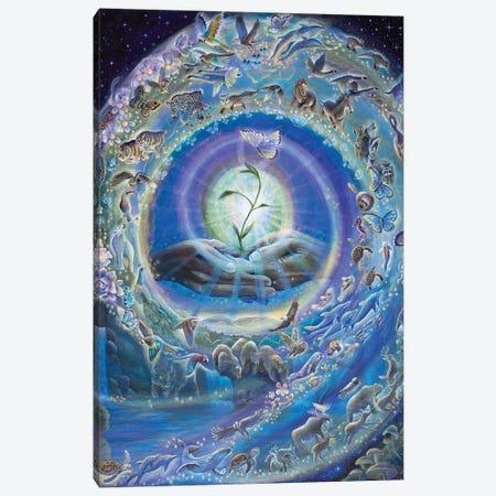 Spiral Of Creation Canvas Print #VRW37} by Verena Wild Canvas Artwork