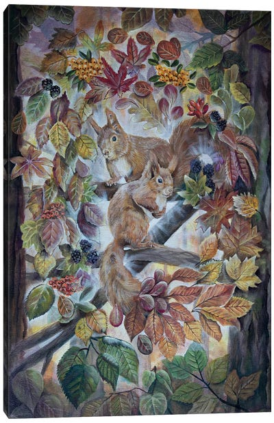 The Smell Of Autumn Leaves Canvas Art Print