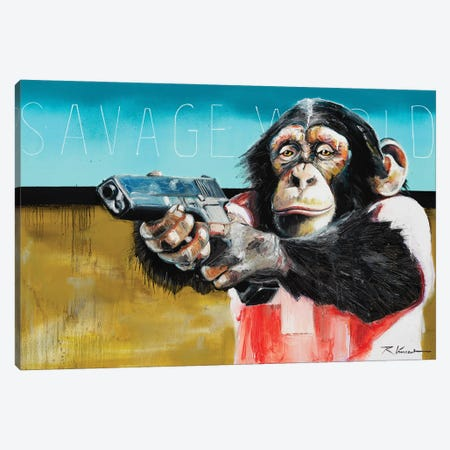 Savage World Canvas Print #VRX12} by Vincent Richeux Canvas Artwork