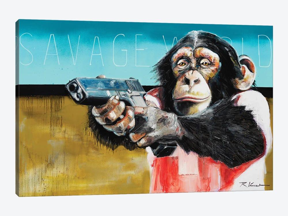 Savage World by Vincent Richeux 1-piece Canvas Art
