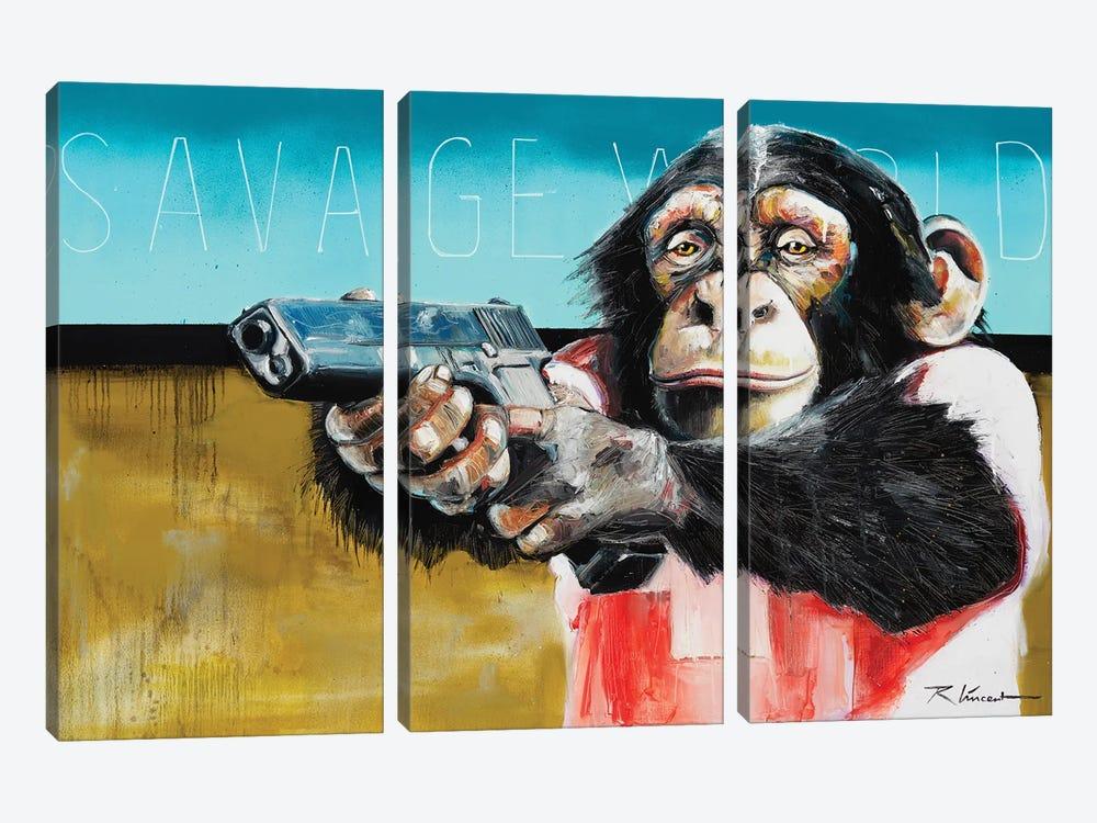 Savage World by Vincent Richeux 3-piece Canvas Wall Art