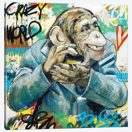 Crazy World Canvas Print #VRX4} by Vincent Richeux Canvas Wall Art