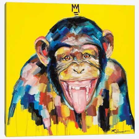 Funky Monkey Canvas Print #VRX6} by Vincent Richeux Canvas Wall Art