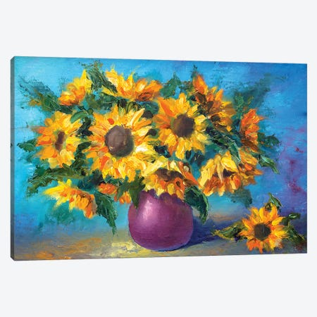 Sunflowers Canvas Print #VRY103} by Valery Rybakow Canvas Print
