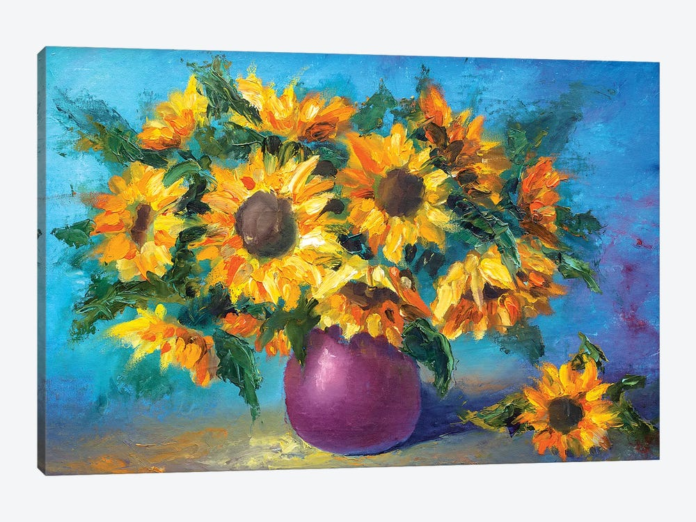 Sunflowers by Valery Rybakow 1-piece Canvas Wall Art