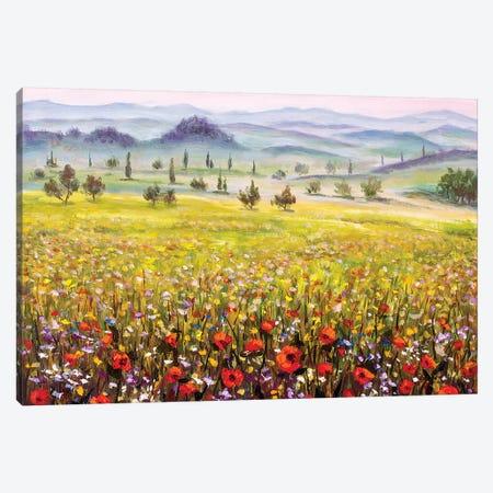 Tuscany Landscape Canvas Print #VRY108} by Valery Rybakow Art Print