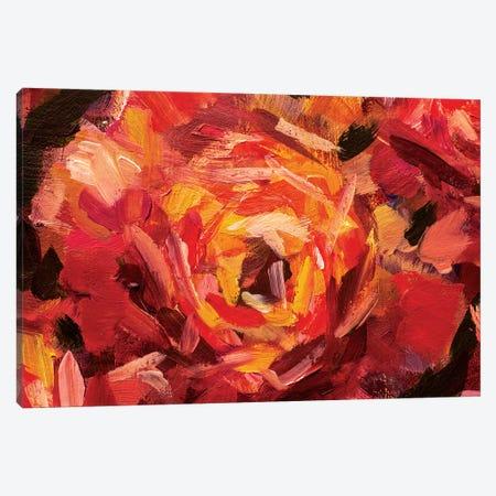Big Red Flower Canvas Print #VRY10} by Valery Rybakow Art Print