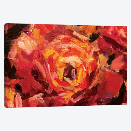 Big Red Flower Canvas Print #VRY10} by Valery Rybakow Art Print