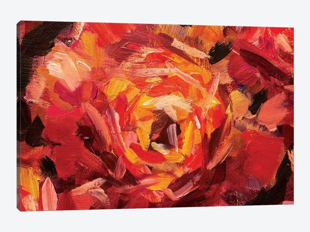 Big Red Flower by Valery Rybakow 1-piece Art Print