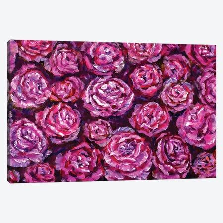 Violet Rose Flowers Canvas Print #VRY112} by Valery Rybakow Canvas Art