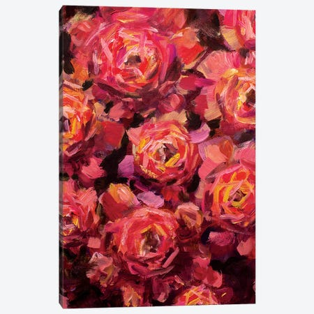 Big Red Flowers Canvas Print #VRY11} by Valery Rybakow Canvas Print