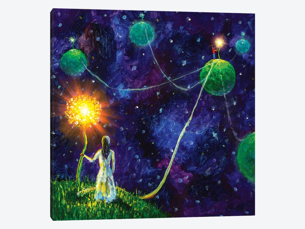 Threads Of Love. Princess And Little Prince. by Valery Rybakow 1-piece Canvas Artwork