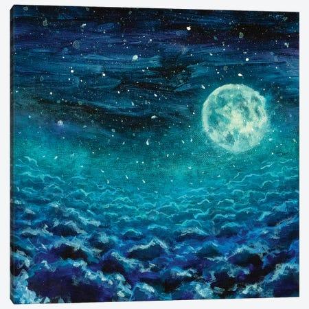 Big Cold Moon Canvas Print #VRY133} by Valery Rybakow Canvas Art