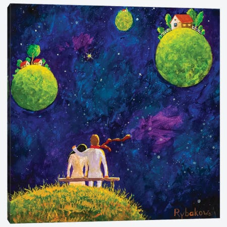 Big Cosmic Love Canvas Print #VRY134} by Valery Rybakow Canvas Print