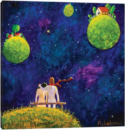 Big Cosmic Love Canvas Art Print
