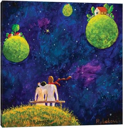 Big Cosmic Love Canvas Art Print