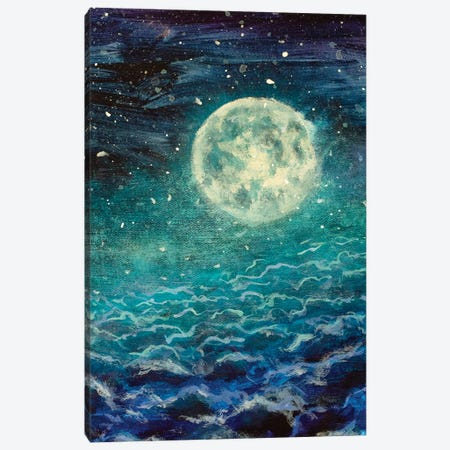 Big Moon Canvas Print #VRY135} by Valery Rybakow Canvas Art Print