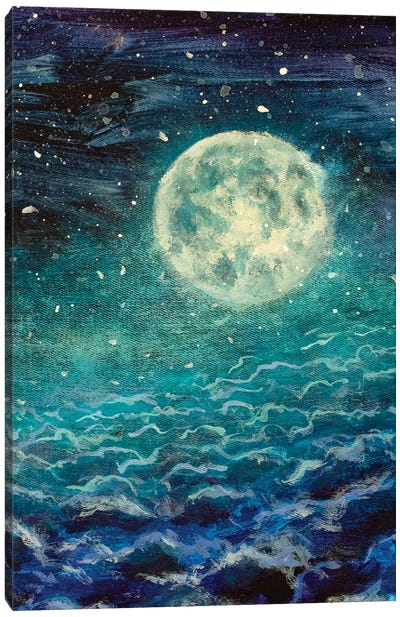 Big Moon Canvas Art Print
