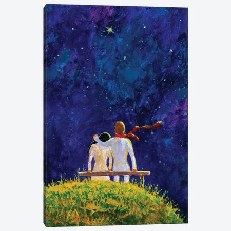 Cosmic Love Canvas Print #VRY136} by Valery Rybakow Art Print