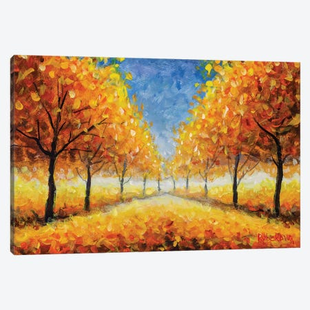 Golden Autumn Park Canvas Print #VRY143} by Valery Rybakow Art Print