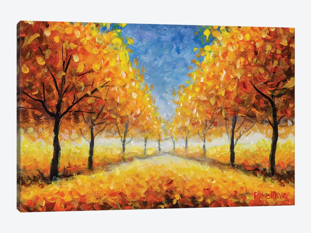 Golden Autumn Park by Valery Rybakow 1-piece Canvas Artwork