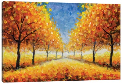 Golden Autumn Park Canvas Art Print