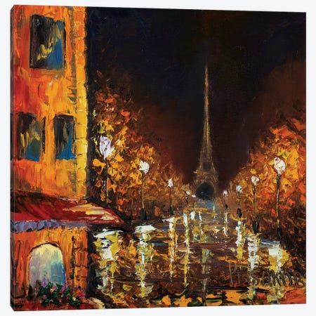 Paris By Night Canvas Print #VRY146} by Valery Rybakow Canvas Artwork