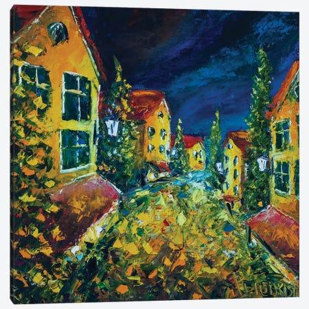 Old Night City Canvas Print #VRY147} by Valery Rybakow Canvas Wall Art