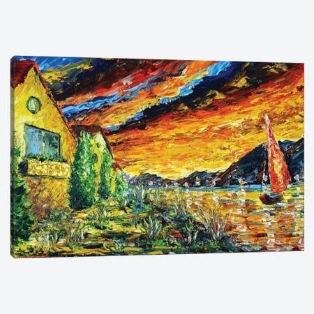Evening Walk On A Yacht Canvas Print #VRY148} by Valery Rybakow Art Print