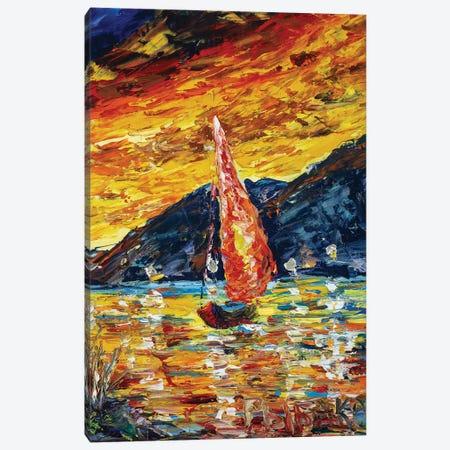 Scarlet Sails Canvas Print #VRY149} by Valery Rybakow Canvas Art Print