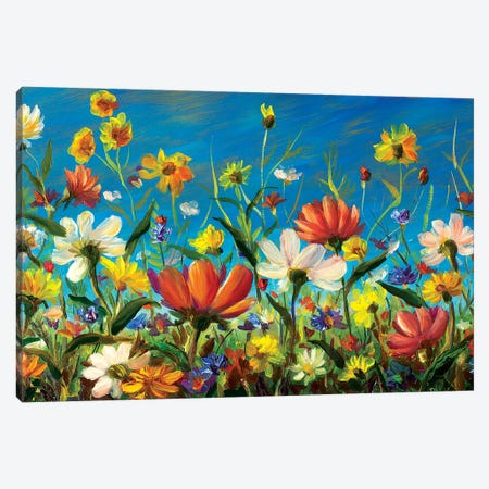 Big Wildflowers Canvas Print #VRY14} by Valery Rybakow Canvas Art