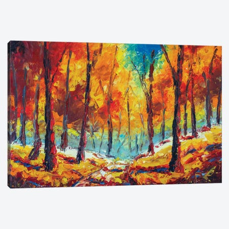 Autumn Forest Canvas Print #VRY150} by Valery Rybakow Canvas Wall Art
