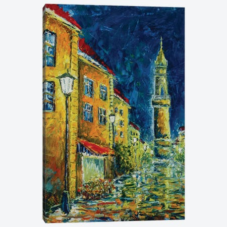 Night City Canvas Print #VRY156} by Valery Rybakow Canvas Art Print