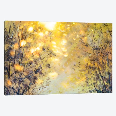 Beautiful Yellow Orange Abstract Background Of Nature Canvas Print #VRY162} by Valery Rybakow Art Print
