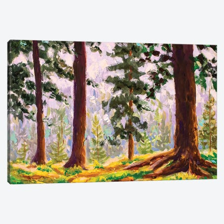 Big Trees In Summer Sunny Forest Canvas Print #VRY167} by Valery Rybakow Canvas Art