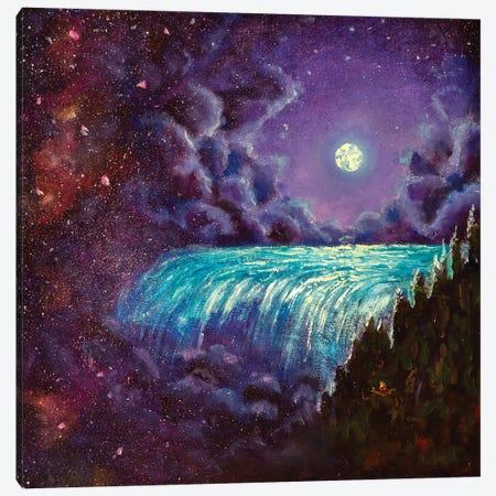 Romantic Night Landscape 3-Piece Canvas #VRY169} by Valery Rybakow Canvas Art Print
