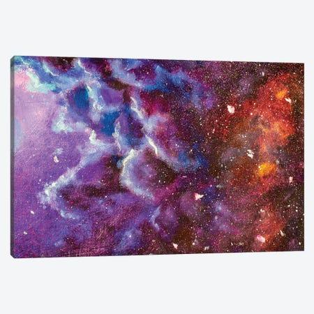 Abstract Night Sky Canvas Print #VRY171} by Valery Rybakow Canvas Artwork