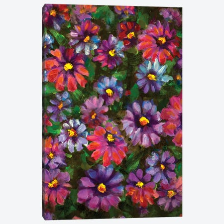 Beautiful Wildflowers Canvas Print #VRY182} by Valery Rybakow Canvas Art Print