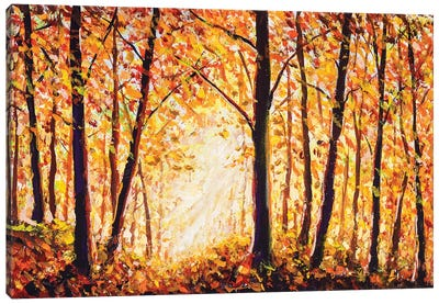 Autumn Forest Painting Canvas Art Print