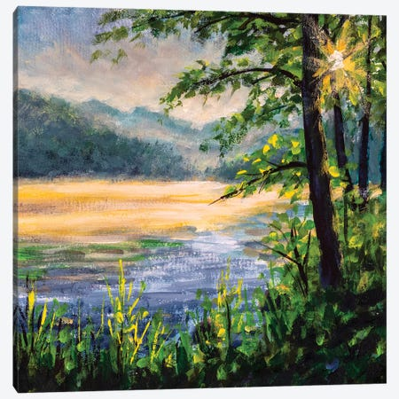 Morning On River Canvas Print #VRY194} by Valery Rybakow Art Print