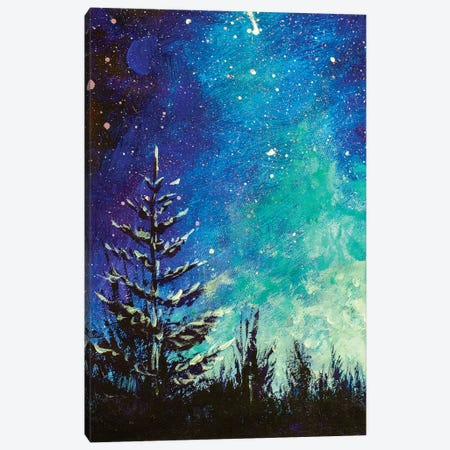 Christmas Tree At Night Canvas Print #VRY196} by Valery Rybakow Art Print