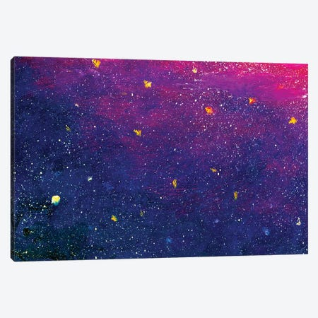Colorful Blue Violet Space, Universe Canvas Print #VRY205} by Valery Rybakow Canvas Print