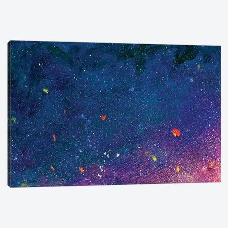 Sunset Over Lavender Field. Canvas Print #VRY207} by Valery Rybakow Canvas Print