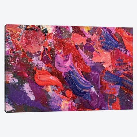 Closeup View Of An Original Acrylic Palette Knife Canvas Print #VRY208} by Valery Rybakow Canvas Artwork